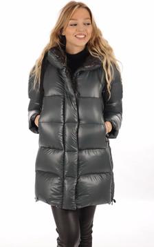 Doudoune Oversize Verte Textile Femme1