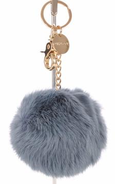 Porte-clé lapin bleu acier1