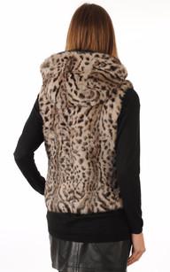 Gilet Fourrure Lapin façon Lynx