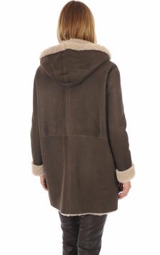 Manteau peau lainée Eden old cuir