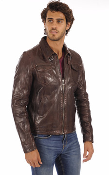 Blouson Shelby Marron1
