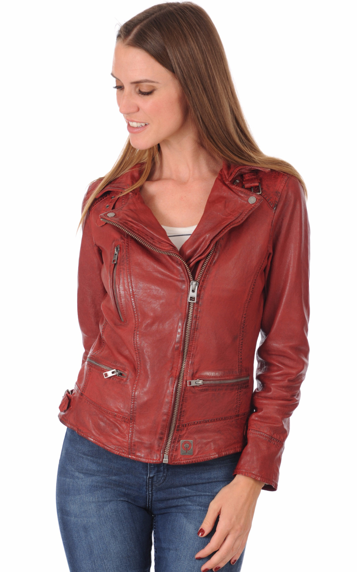 Blouson Perf Style Perfecto Rouge1