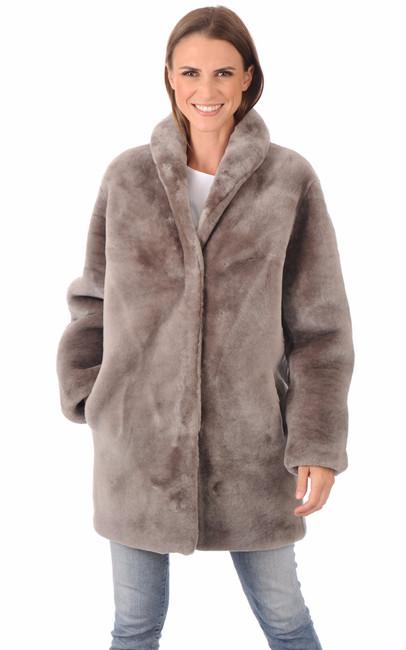 3 4 mouton dor femme lou andrea la canadienne manteau. Black Bedroom Furniture Sets. Home Design Ideas