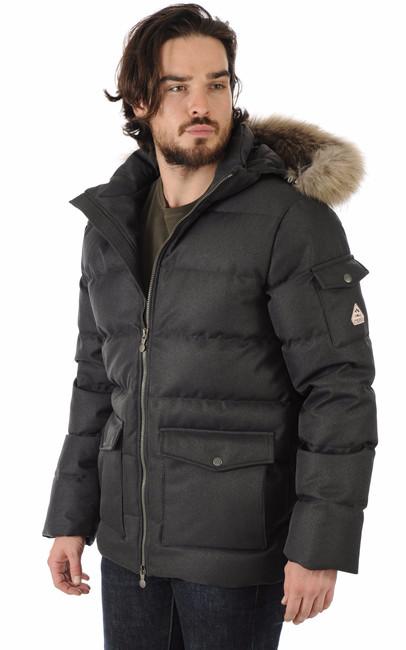doudoune authentic jacket drill grise homme pyrenex la canadienne doudoune parka textile. Black Bedroom Furniture Sets. Home Design Ideas