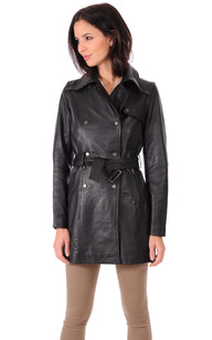Trench Cuir Femme Selena1