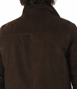 Veste Cuir Nubuck Marron La Canadienne