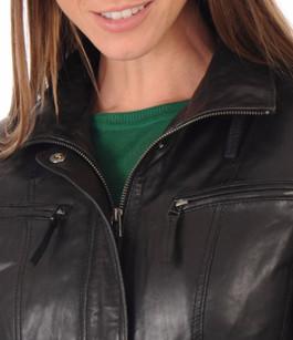 Veste Cuir Femme Coupe Confortable La Canadienne