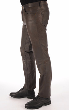 Pantalon agneau nubuck chocolat